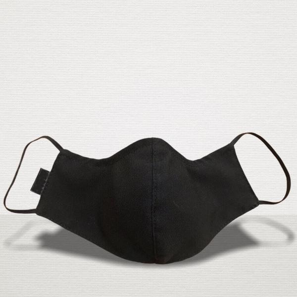 Gesichtsmaske Premium Black Front stoffmaske