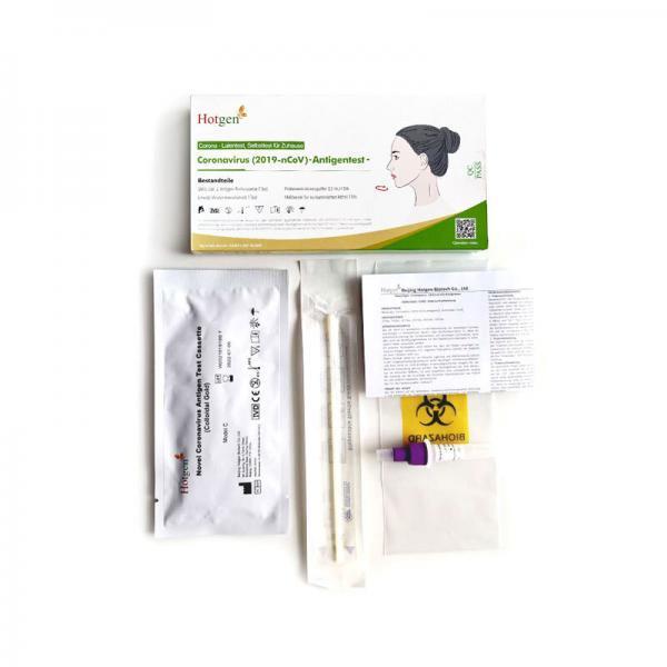 Test Kit des Hotgen Corona Test für Laien
