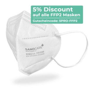 5 Prozent Discount auf alle FFP2 Masken