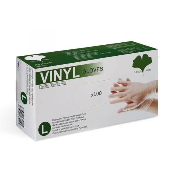100er Box Vinyl Handschuhe transparent